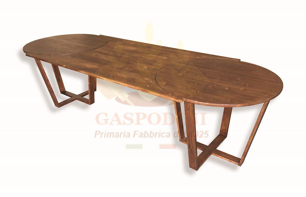 Prolunga per tavolo rotondo in legno massello cm 100 in for Prolunga tavolo