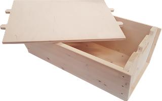 Madia tradizionale in legno per impastare - con coperchio multiuso