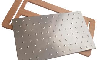 Tagliere Giusto - GASPODINI serie WoodSteel in Legno di Faggio e piatto Inox Rimuovibile lavabile in lavastoviglie e personalizzabile